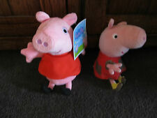 Peppa Pig.great pair of Peppa pig toys.plain plush with tag & Peppa with mud