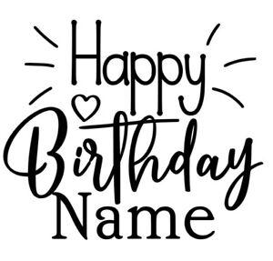 Happy Birthday Decal Vinyl Sticker, balloon, Decor, Gift, Birthday, Present,Gift