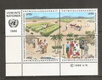 United Nations / Vienna SC # 61a UN Development Program BLK4 Inscription .MNH