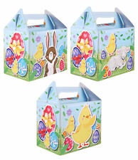 6 Easter Time Party Boxes - Lunch Toy Loot Party Bag Fillers Cake Food Kids Hunt