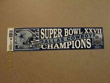 NFL Dallas Cowboys SUPER BOWL XXVII CHAMPIONS Sticker