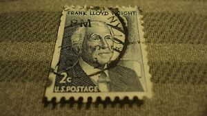 Frank Lloyd Wright 2 Cent U.S. Postage Stamp