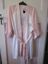 Bras N Things Robe Dressing Gown Pink / Ivory China Doll Size M