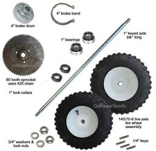 "Go-Kart Live Axle Kit, 40"" axle 145/70-6 Tires"