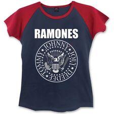 Small Navy Blue & Red Ladies Ramones Presidential Seal T-shirt - Tshirt