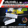 2x Vauxhall Astra Insignia Corsa 18 SMD LED Replacement Number Plate Units 6000K