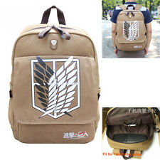 Anime Attack On Titan Canvas Backpack Boy Girls School Bag Sport Travel Satchel