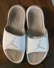 mens white 'Air Jordan' adjustable fit athletic slide sandals size 10