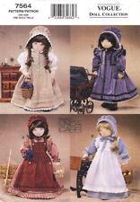 Vogue Schnittmuster 7564 Western-Puppenkleidung in 4 Variationen
