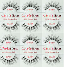 6 Pairs Christina 100% Human Hair False Eyelashes # WSP Compare Red Cherry