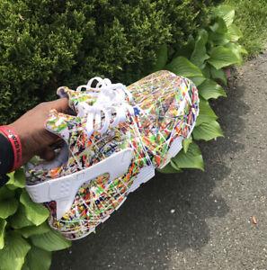 Nike Huarache Mens 318429-111 Customized Huaraches Splatter Custom