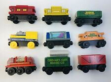 Thomas Train Wooden Railway & Friends Caboose & Cargo Cars Lot 9p *Musical Light