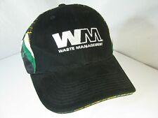 WM Waste Management Bill Lester #22 Nascar Driver Black Hat Cap w/ Sandwich Bill