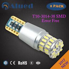 2PCS  T10 car LED light Bulbs CANBUS ERROR FREE White 4300K 3014  W5W 194 168