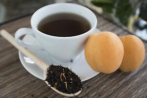 Apricot Black Organic  tea loose leaf or tea bags ice tea brew bags sweet smooth