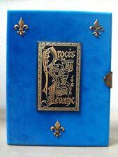 PROCES DE JEANNE D'ARC.16 MINIATURES DE DUSSARTHOU+ SUITES. NUMEROTE.TBE
