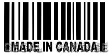 Made In Canada Barcode Vinyl Sticker Decal Maple Leaf - Choose Size & Color