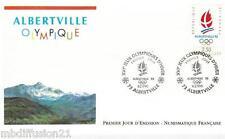 1990**FDC 1°JOUR!!**JEUX OLYMPIQUE D'ALBERVILLE**TIMBRE Y/T 2632