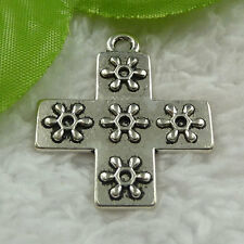 Free Ship 60 pcs tibet silver cross charms pendant 35x30mm #1076