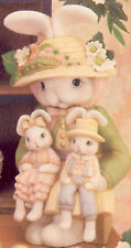 "Ceramic Bisque Ready to Paint Mama Bunny with Boy & Girl Lap Bunnies 14.5"" tall"