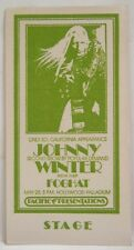 Johnny Winter / Foghat - Vintage Original Real 1970's Cloth Backstage Pass