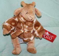 """Russ GISELLA GIRAFFE 7"""" Soft Plush Toy Stuffed Animal Brown White Jacket 100644"""