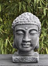 Buddhakopf Deko Figur, Buddha Statue, Stein-figur Garten-figur Feng Shui