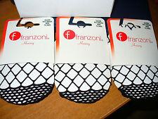 3 paia calzino FRANZONI elasticizzato RETE GRANDE colore nero Taglia unica
