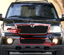 Fits 03-04 Lincoln Navigator Black Billet Grille Combo