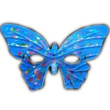 Masquerade Butterfly Exotic Eye Blue Mask with Rainbow Spots