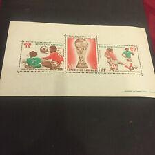 #38 Gabon 1978 Airmail-Football World Cup-Argentina.Minisheet