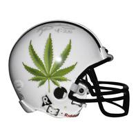 Ricky Williams Signed Green Leaf Mini Replica White Football Helmet (JSA)