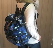 Victoria Secret Pink Galaxy Celestial Space Full Size Canvas Backpack Travel Bag