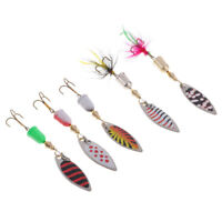5pcs Spinners Baits Sequins Fishing Lures Hard Baits for Bass Trout Salmon
