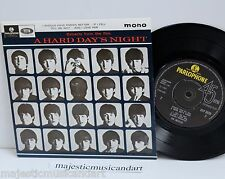 "THE BEATLES A HARD DAY'S NIGHT EP 7"" VINYL 45 PARLOPHONE UK MONO NM RARE"