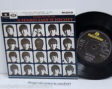 "THE BEATLES A HARD DAY'S NIGHT EP 7"" VINYL 45 PARLOPHONE UK MONO EX RARE"