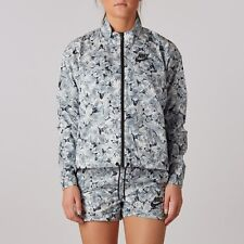 """NEW Women's Nike Black/White Floral """"AOP FTW"""" Zip Jacket (Small)"""