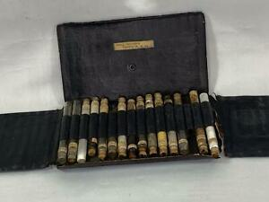 Vintage Apothecary Medical Case with Glass Tubes Abbott Alkaloidal Chicago IL