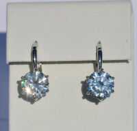 Echt 925 Sterling Silber Ohrringe Creolen rund Zirkonia crystal Hochzeit  Nr 101