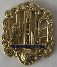 Hard Rock Cafe New York 3D Gold Filigree Series Pin 2018