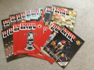 1979/80  Manchester United Home Programme Collection (vgc) x 27