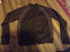 AMBIGUOUS Track Jacket Dark Brown 100% Polyester, Sz M