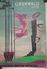 affiche ancienne Gronowski, Tadeusz (1894-1990) Grunwald Lipiec Original.Poland