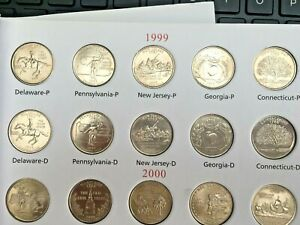 USA 50 State & Territories Commemorative Quarters 25Cent 1999 to 2009  D&P Mints
