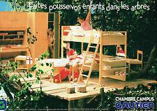 Publicité Advertising 127  1984   meubles jeunes  chambre  Campus Gautier (2p)