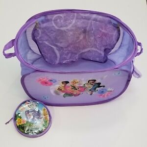 Disney Fairies Tinkerbell Collapsible Chest Toy purple zips soft mesh kids girls