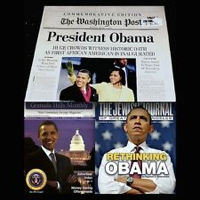 Barack Obama 2009-2010 Lot Of 3 Washington Post USA President Wolfman NM-MT VTG