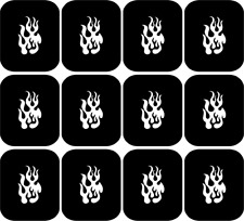 Fire Flame  Nail Art Vinyl Stencil Guide Sticker Manicure Hollow Template