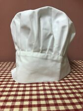 White Chef Hat - Adult - Adjustable - Elastic - One Size New