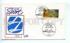 419096 GERMANY 1981 year Sport rowing hang gliding First Day COVER